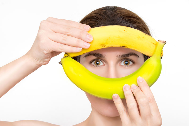 Bananas can keep your skin clean and shiny