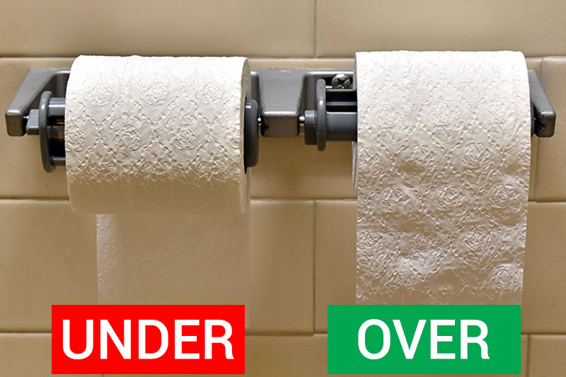 This is The Correct Way to Hang Toilet Paper, According to Science