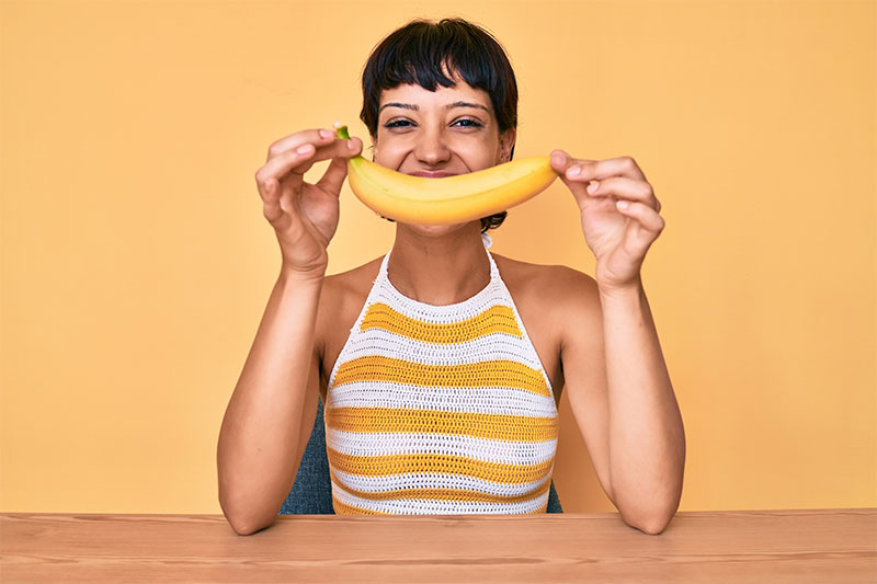 Banana peels can give you a great smile